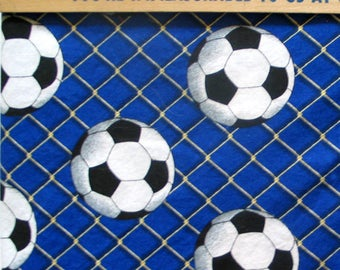 Soccer Balls Fabric Just Under One Full Yard Sports Cotton