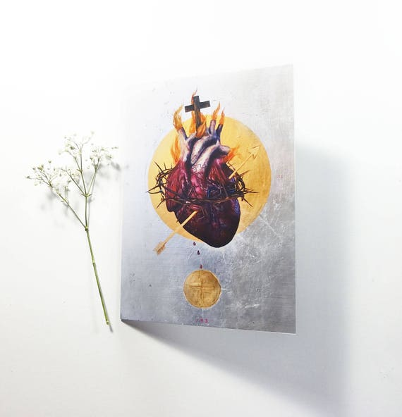 The Sacred Heart of Jesus Note Card 5x7