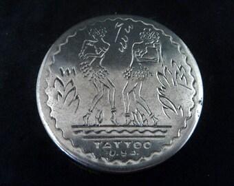 c.1930s 'Tattoo' USA' Rouge Compact... Tiki Dancers