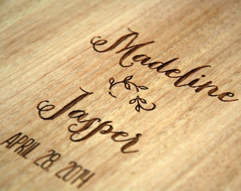 Wedding Guestbook, Wood Guest Book, Wedding Gift, Engagement Gift, Bridal Shower