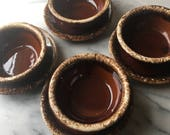 Hull Drip Pottery circa 60s Bowl and Plate Set of 4