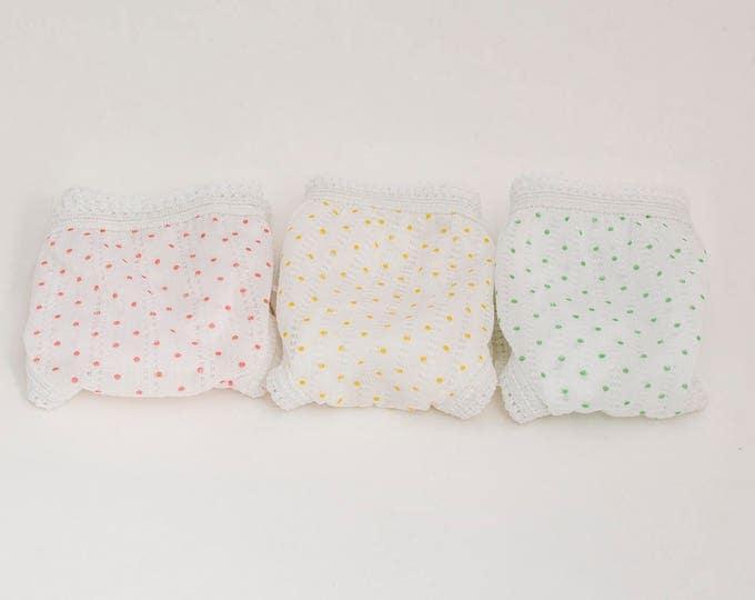polka dot Vintage panties pack of 3 deadstock