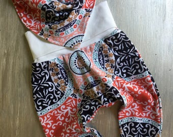 Baby Girl Harem Pants and Bib Set