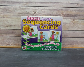 1997 Frank Schaffer Publications 3-Scene Sequencing Cards