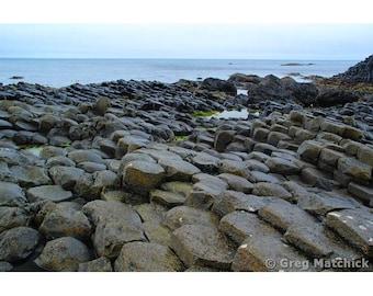"Fine Art Color Landscape Photography of Ireland Coastline ""Giants Causeway 5"""