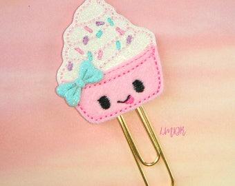 Froyo Cutie Glitter Paperclip Planner Clip Frozen Yogurt ice cream sundae cup