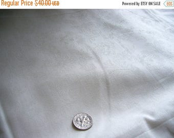 SUMMER SALE White on White Cotton Fabric, Quilting, Wedding, Christening, Communion, Quinceanera, Sweet Floral Paisley