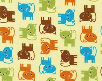 Robert Kaufman Urban Zoology Bermuda Kittens Fabric - 1 yard