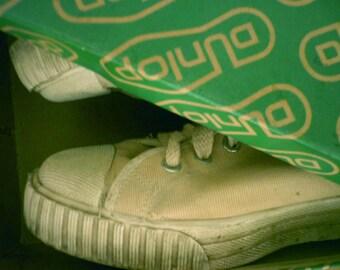 90's Dunlop hi top sneakers for women