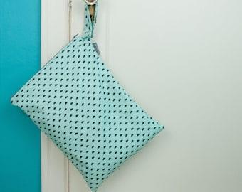 Pooh Poo Polka Dot Wet Bag, Large Waterproof Wet Bag, Swim Lessons Bag, Cloth Diapering Bag, Beach Bag, Gifts for New Parents