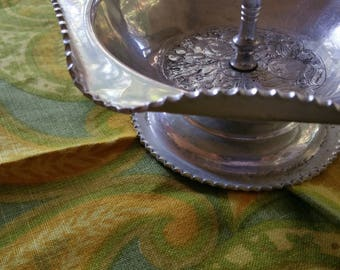 Cromwell Aluminum Hand Wrought Candy dish vintage