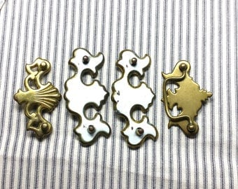 Vintage Drawer Pull Parts, Restoration Hardware or Project, Found Object Art Pieces