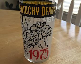Vintage 1975 Kentucky Derby Glass
