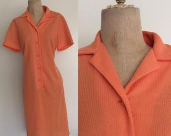 30% OFF 1970's Orange Sherbet Shift Dress