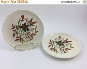 Sale Vintage Universal Ballerina Plates Salad Plate Dessert Plate Bread and Butter Plate Flowers Floral Made in USA