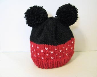 Mickey/Minnie baby beanie for preemie/newborn