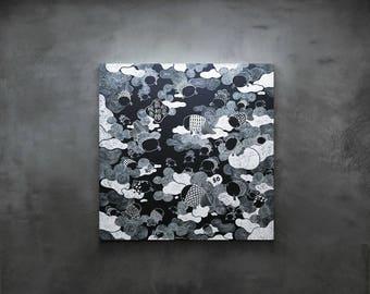 Large canvas print – Bo The Goldfish – Bo Calmness 3x3ft