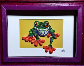 big toed frog ~ by Willowbrook Creations