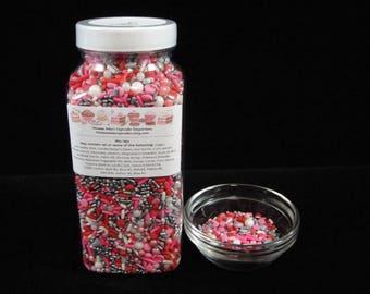 BULK Cupid's Mix Up Sprinkles, Valentine's Day Sprinkles, Cupcake Sprinkles, Arrow Sprinkles, Heart Sprinkles, Sprinkle Mix