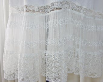 "Vintage Accordion Lace Pleated Full Slip 148"" Circle Hemline Size 34"