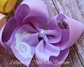Bunny Monogram Boutique Bow