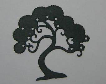 5 Bonsai (Ming) Asian Tree Embellishments