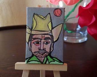 Tijuana Man- original ACEO painting