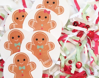 Cookie Decorating Party, DIY Gingerbread Garland, Gingerbread Party, Confetti, Gingerbread Man, Glitter, Cookie Swap Party, Decorations