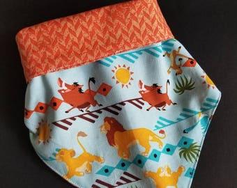 Reversible bandana, dog bandana, fits up to 11 inch neck, Puppy bandana, small dog bandana, dog accessories, dog accessory