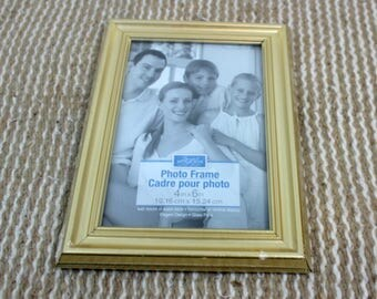 4x6 gold finish picture frame home decor craft supply