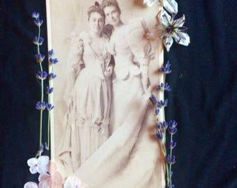 Cabinet Photo - Wedding - Bride  - Antique Photo - Alice Wilson - Chicago