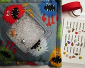 I Spy Bag Game, Hairy Monsters, Boys, car vacation travel toy, Eye Spy Game, seek and find, sensory occupational therapy, busy bag, gift