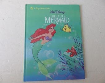 Walt Disney's Presents, The Little Mermaid. Hardcover Big Golden Book, Like New, 1992