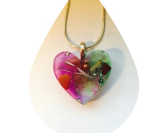 Orgone Heart Pendant. Energy healing necklace.