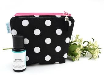 Essential Oil Storage Bag - Polka Dot Bag - Essential Oil Organization - Zipper Bag - Birthday Gift for Her