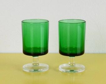 vintage wine glasses etsy. Black Bedroom Furniture Sets. Home Design Ideas