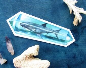 Shark Crystal Sticker - Waterproof Decal - Aura Crystal