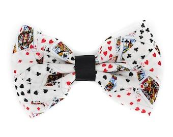 Poker Cards Fabric Hair Bow Clip