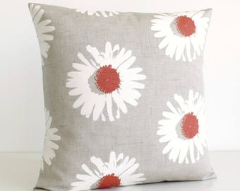 Pillow Cover, Decorative Pillow, Throw Pillow, Accent Pillow, Pillow, Pillow Sham, Pillow Covers, Pillowcase - Daisies Spice