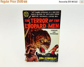 SUMMER BLOWOUT Vintage Mystery Book The Terror of the Leopard Men by Juba Kennerley 1951 First Edition Paperback