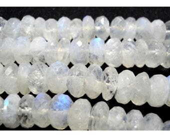 ON SALE 55% Rainbow Moonstone Rondelle, 5mm Beads, Faceted Rondelle Beads,7 Inch Half Strand