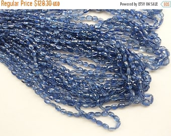 ON SALE 55% Kyanite Faceted Oval Beads, Natural Blue Kyanite Beads, Kyanite Necklace, Kyanite Gemstone, 6-7mm, 8 Inch - AGA50