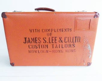 Vintage Travel Suitcase, Custom Tailor, Hong Kong