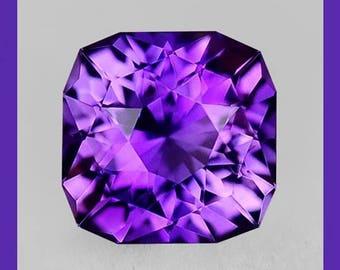 AMETHYST  (34451) * * * * Master Cut  Fiery! Purple / Pink ! 6mm - Uruguay mine!