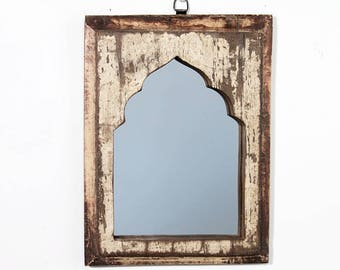 Moroccan Mirror Vintage Wood Frame Wall Art Distressed Yellow Wall Mirror Moroccan Decor Turkish