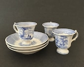 3 Footed Cups Saucers Ant...