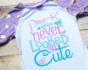 Pre-K never looked so cute girls ruffle raglan tee size 4T-ready to ship!