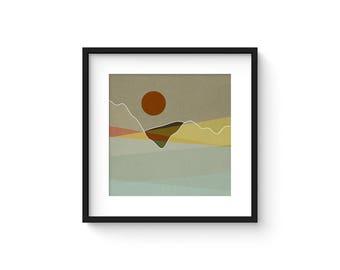 LANDSCAPE & BEYOND no.101 - Abstract Modern Minimalist Landscape Mid Century Style Art Print