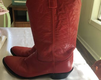 Bottes de cowboy rouge taille 10