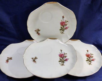 Moss Rose Snack Plates Set of 4 by NASCO Japan